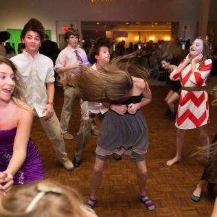 exuberant dancing