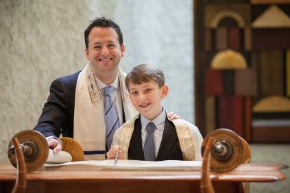 zach with rabbi